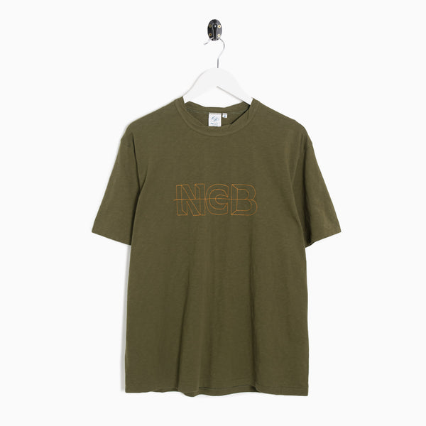 Garbstore NCB Embroidered T-Shirt - Olive Not Listed - CARTOCON