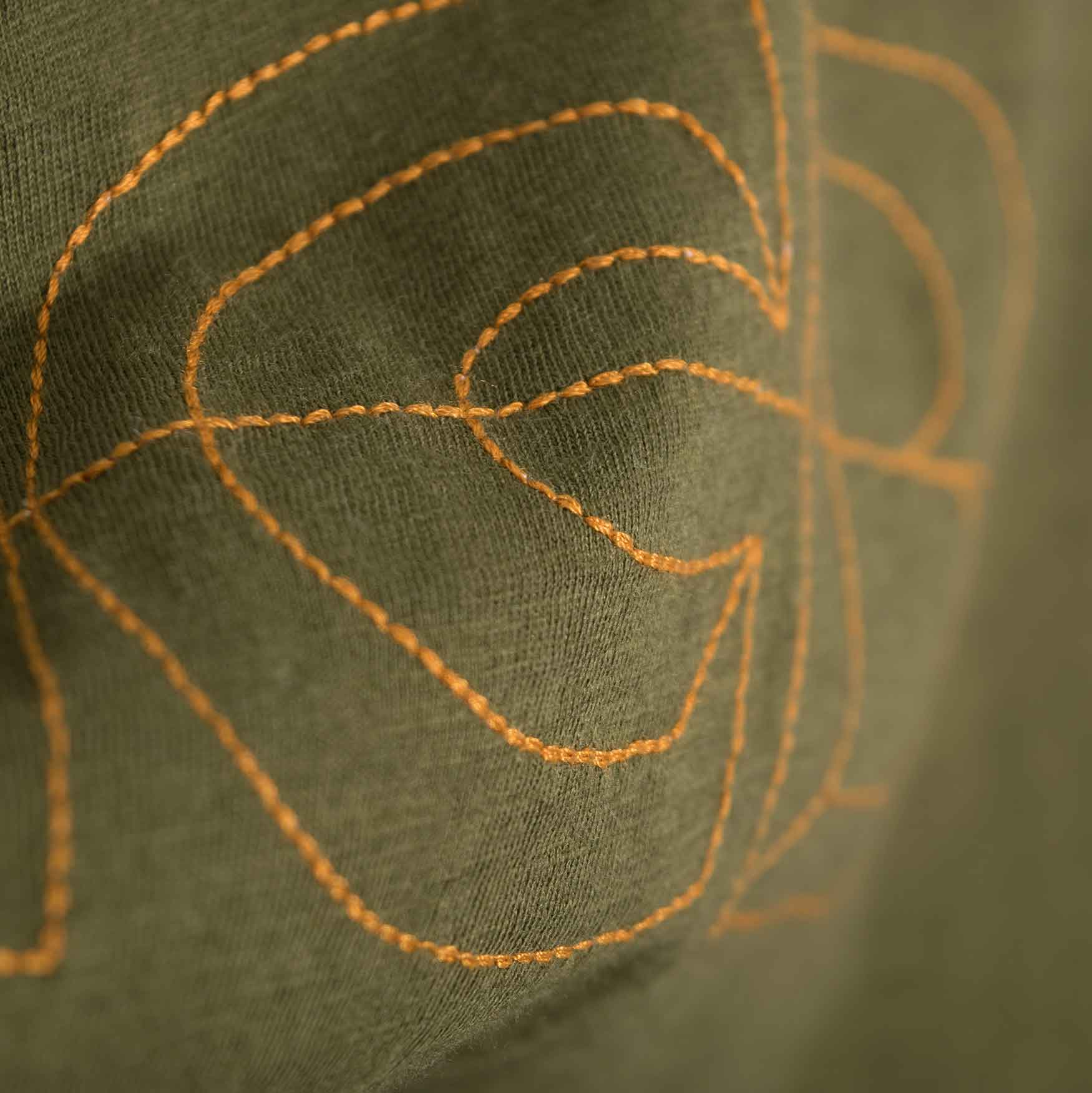 Garbstore NCB Embroidered T-Shirt - Olive
