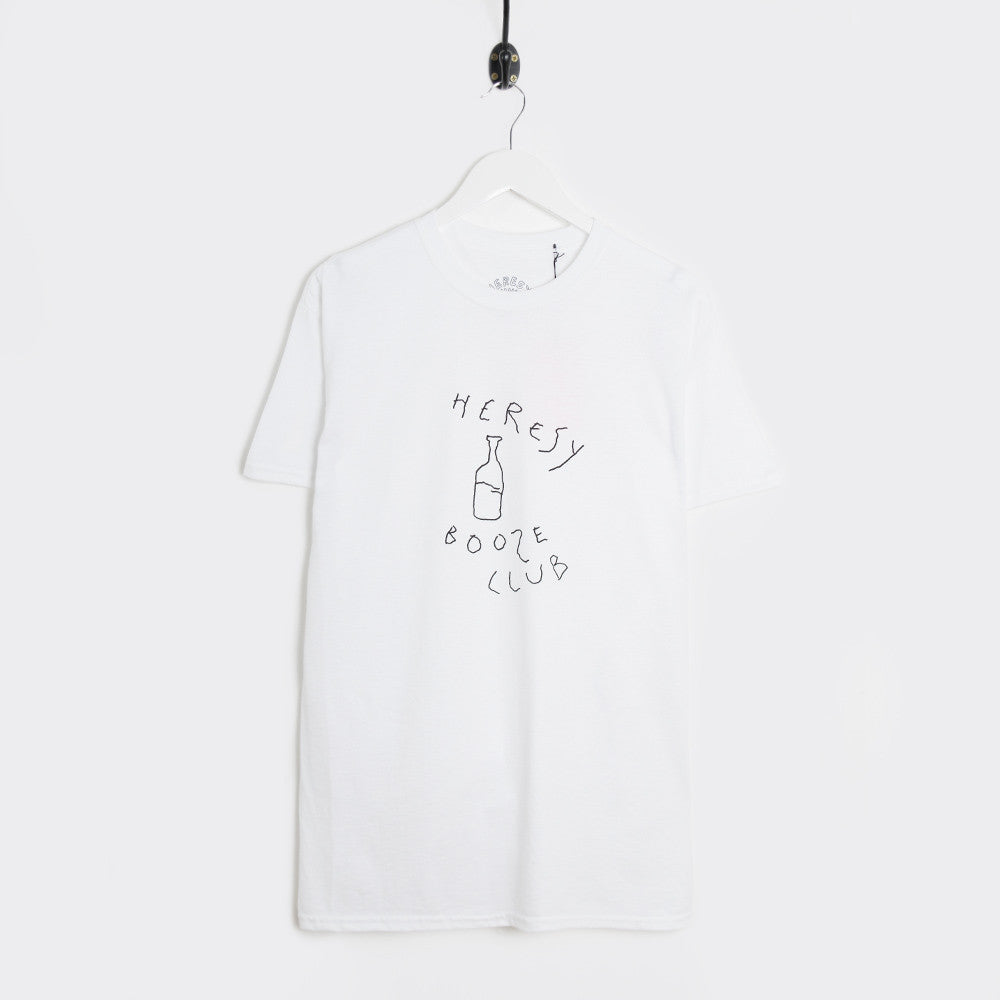 Heresy Booze Club T-Shirt - White - 1