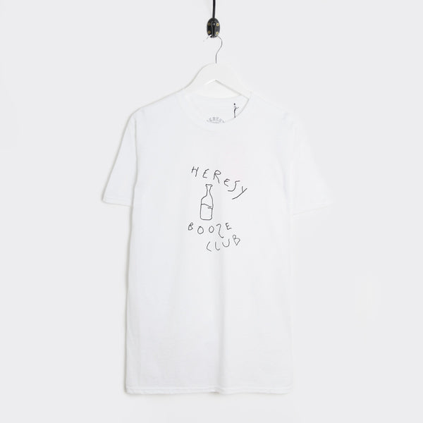 Heresy Booze Club T-Shirt - White  - CARTOCON