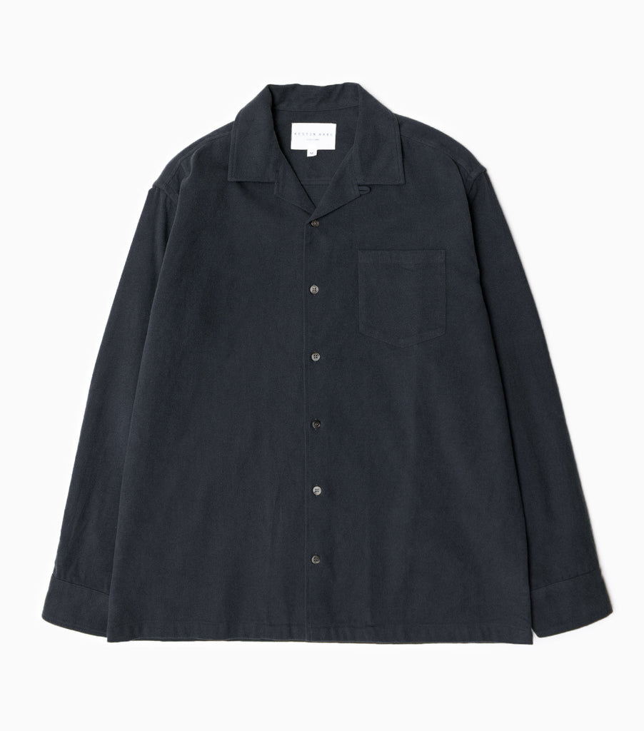 Kestin Hare AW19 Tain Brushed Cotton Shirt - Navy