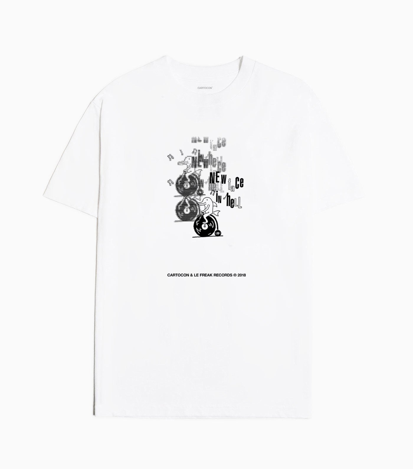 CARTOCON x Le Freak Records T-Shirt - White T-Shirt - CARTOCON