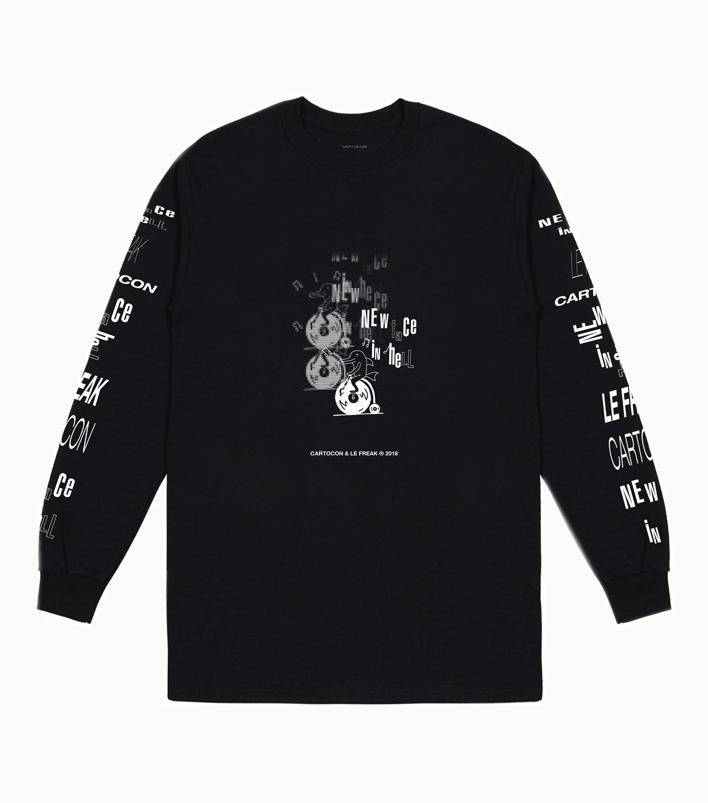CARTOCON x Le Freak Records Long Sleeve T-Shirt - Black Long Sleeve T-Shirt - CARTOCON