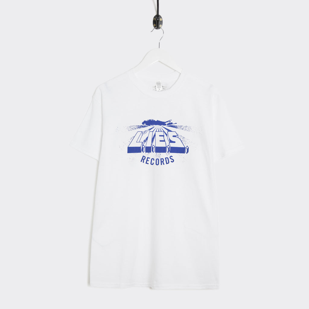 L.I.E.S Records Logo T-Shirt - White/Blue