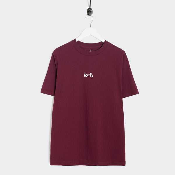 Lo-Fi Micro Logo T-Shirt - Burgundy Not Listed - CARTOCON