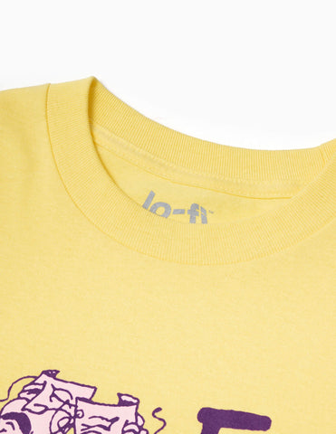 Lo-Fi Arts And Review T-Shirt - Yellow T-Shirt - CARTOCON