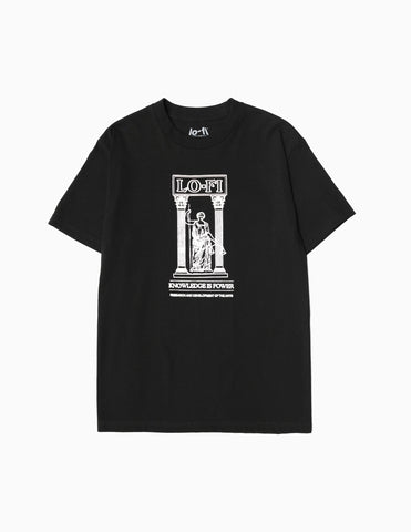 Lo-Fi Knowledge Is Power T-Shirt - Black T-Shirt - CARTOCON