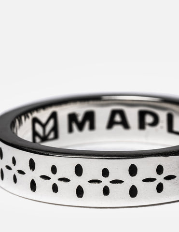 Maple Bandana Ring - Silver