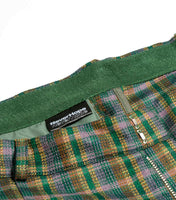 NeverHope Wide Pleated Trouser - Green Check Trousers - CARTOCON