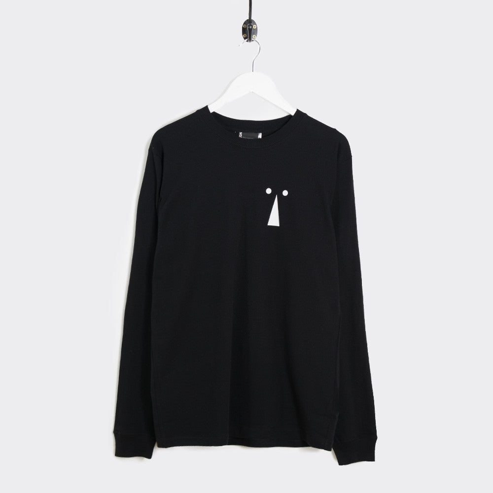 Perks & Mini Keyhole Long Sleeve T-Shirt - Black - 1