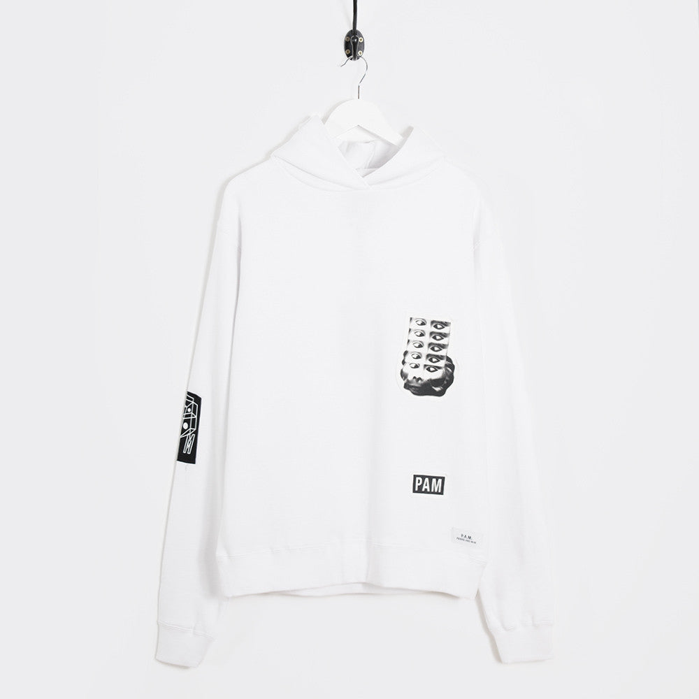 Perks & Mini Psilocybe Patch Hooded Sweatshirt - White - 1