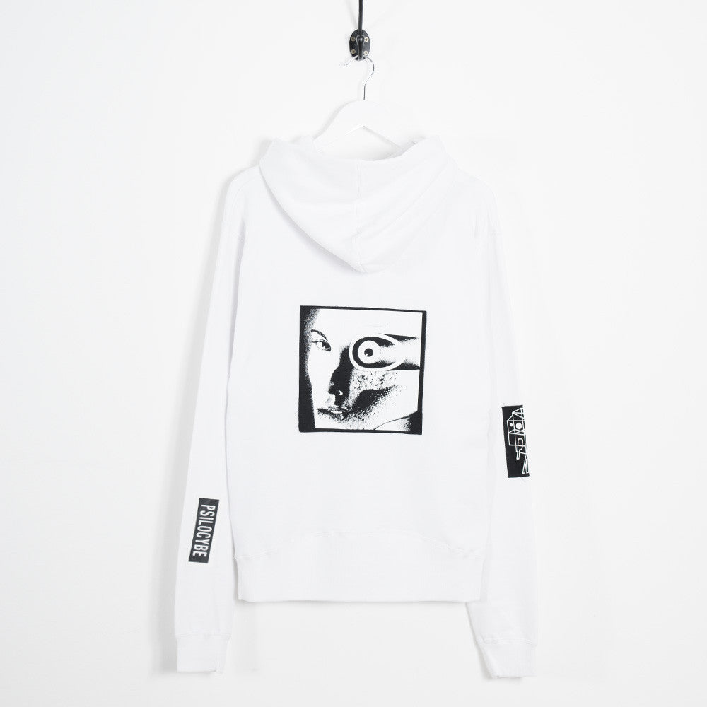 Perks & Mini Psilocybe Patch Hooded Sweatshirt - White - 2