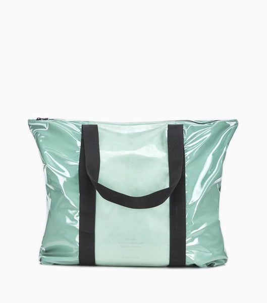 Rains LTD Tote Bag - Glossy Faded Green Tote Bag - CARTOCON