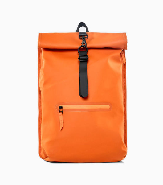 Rains Roll Top Rucksack -  Fire Orange Backpack - CARTOCON