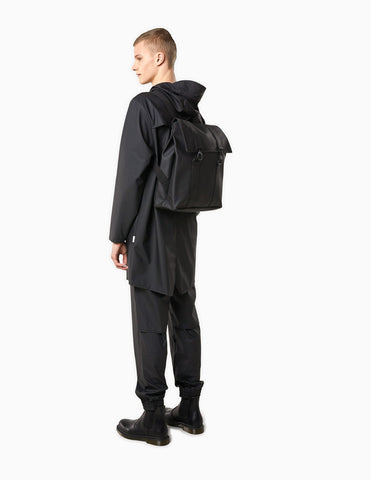 Rains MSN Backpack Waterproof Bag - Black Backpack - CARTOCON