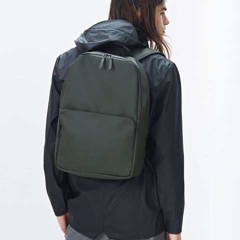 Rains Field Backpack Waterproof Bag - Green Backpack - CARTOCON