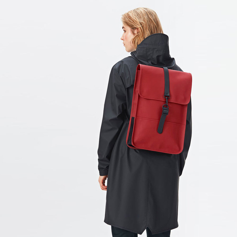 Rains Backpack Mini Waterproof Bag - Scarlet