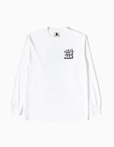 Real Bad Man So Far Out Long Sleeve T-Shirt - White