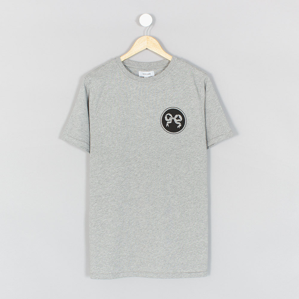 Soulland Ribbon T-Shirt - Grey  - CARTOCON