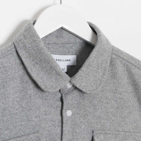 Soulland Tom Woollen Western Shirt - Grey Shirt - CARTOCON