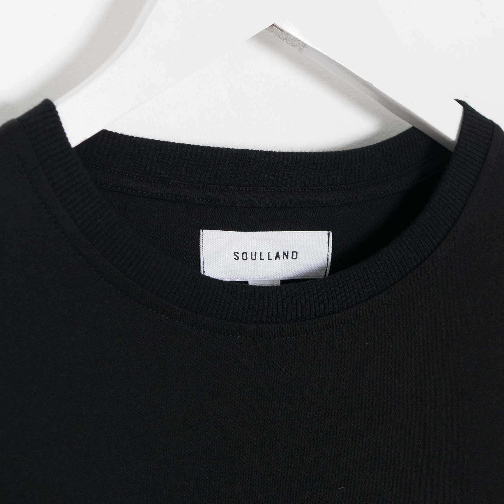 Soulland Norgaard T-Shirt - Black  - CARTOCON