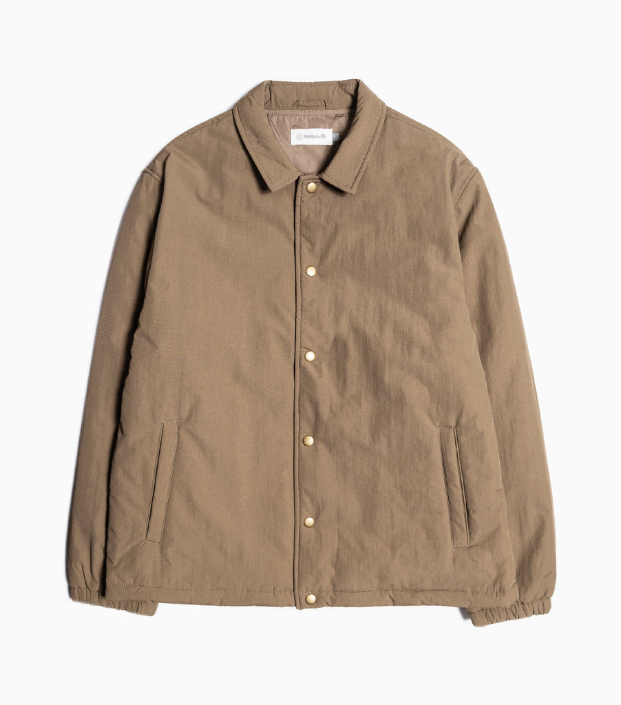 Satta Insulated Grounds Coach Jacket - Dusty Brown