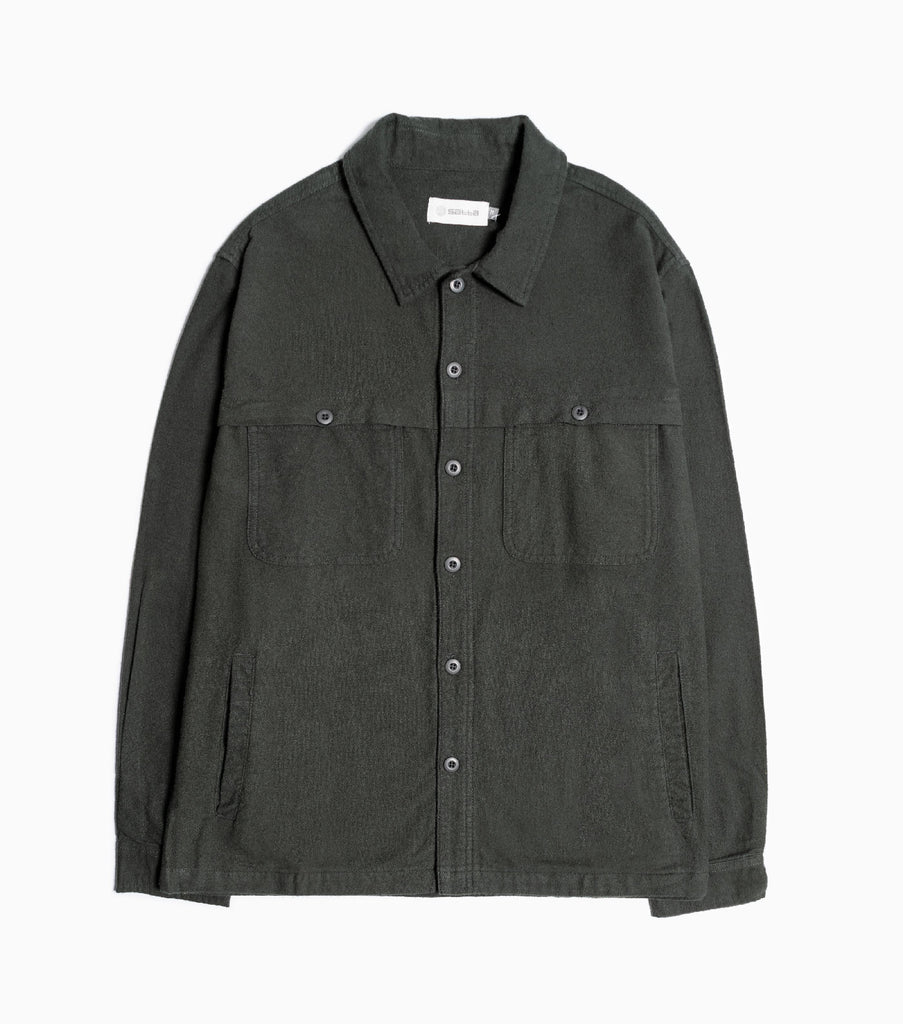 Satta Front Yoke Overshirt - Alpine Green