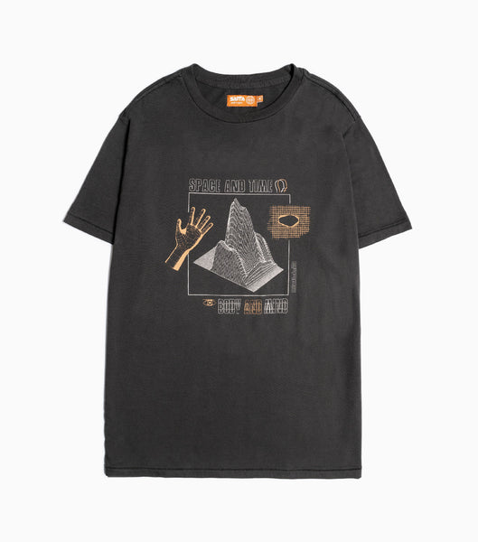 Satta Space & Time T-Shirt - Washed Black T-Shirt - CARTOCON