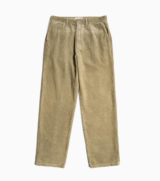 Satta Straight Leg Cord Trousers - Taupe Trousers - CARTOCON