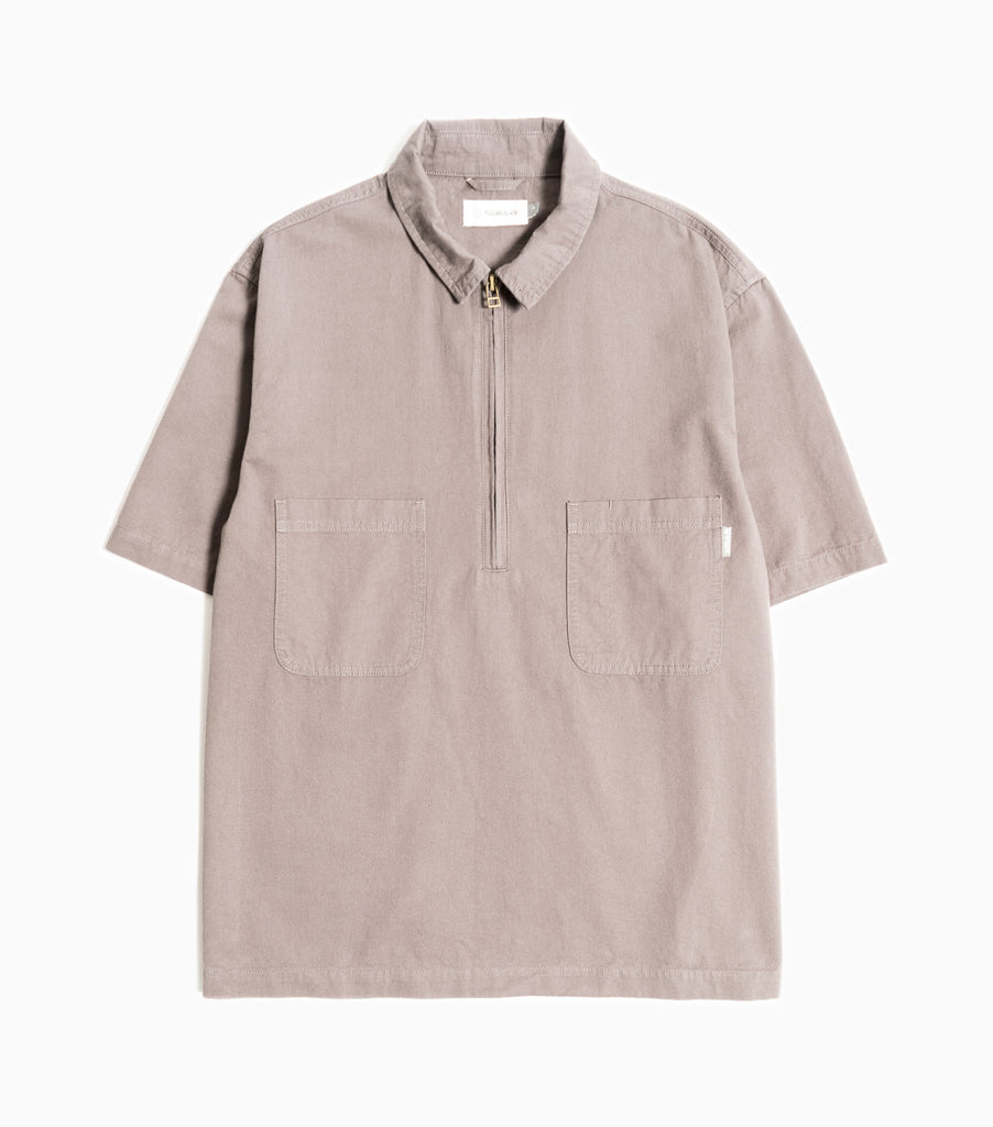 Satta Midweight Peached Cotton Twill 3rd Shirt - Slate Grey