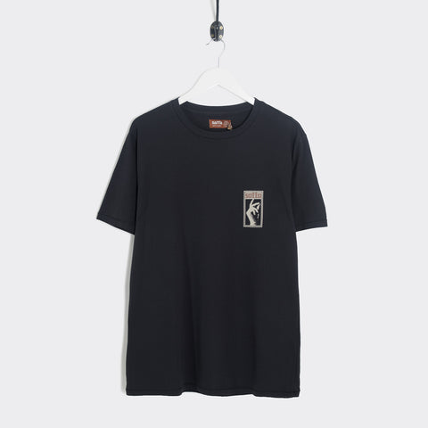Satta Stax T-Shirt - Washed Black T-Shirt - CARTOCON