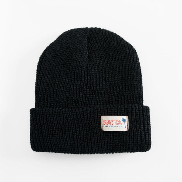 Satta Bamboo Beanie - Black  - CARTOCON