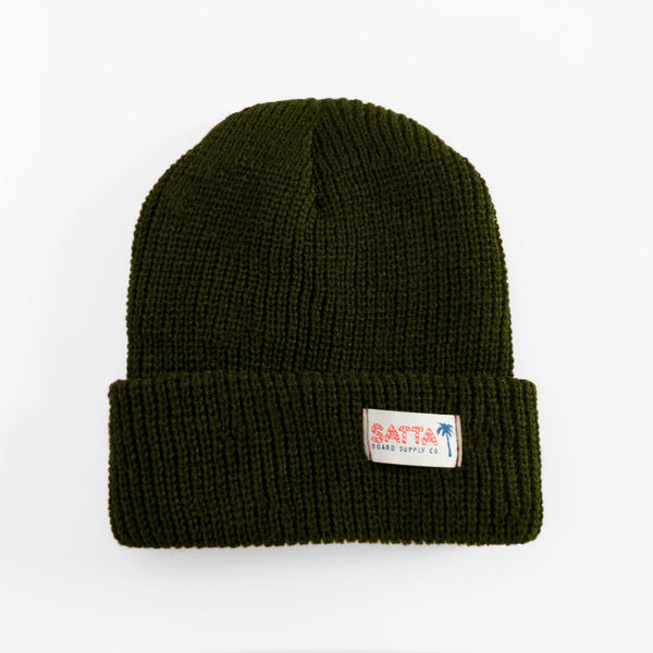 Satta Bamboo Beanie - Army Green  - CARTOCON