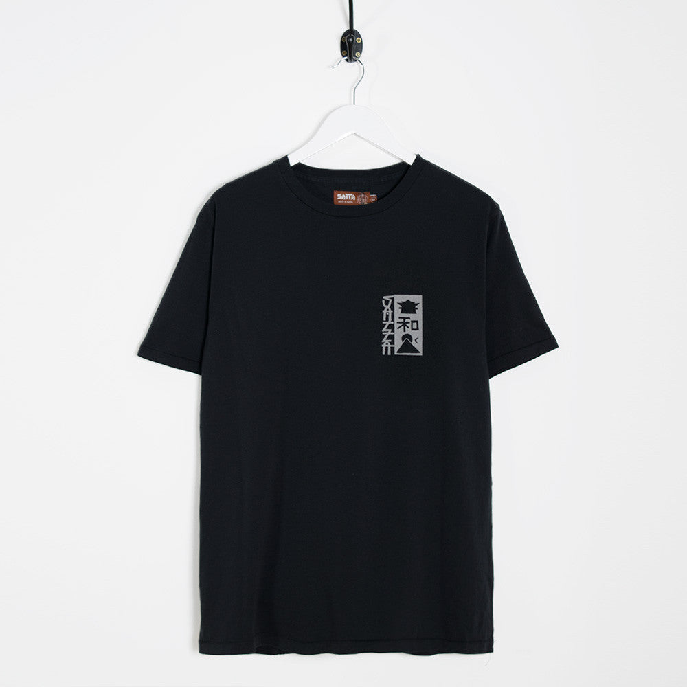 Satta Shambhala T-Shirt - Washed Black - 1