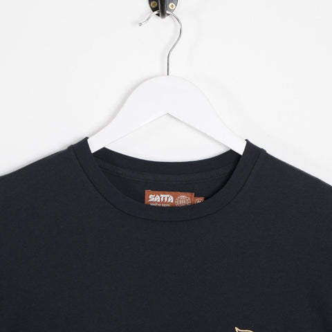 Satta Light of Satta T-Shirt - Washed Black  - CARTOCON
