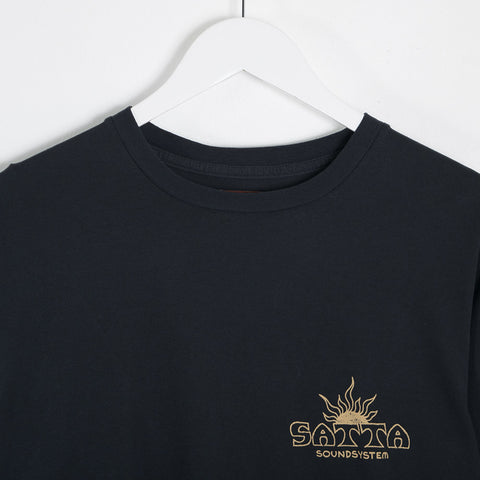 Satta Solar Soundsystem Tee - Washed Black T-Shirt - CARTOCON