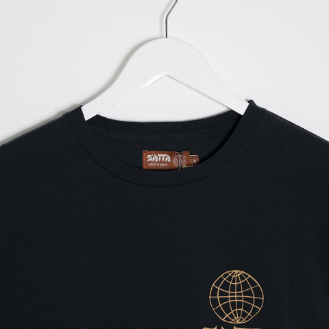 Satta Masala T-Shirt - Washed Black  - CARTOCON