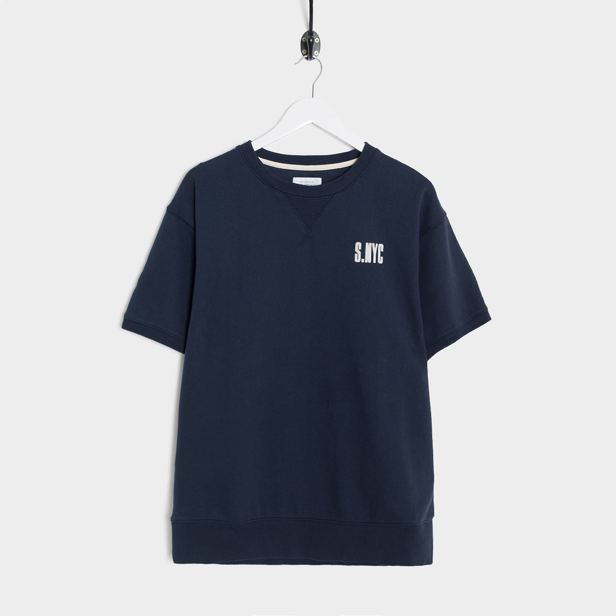 Saturdays NYC Elliot S.NYC Short Sleeve Sweatshirt - Midnight
