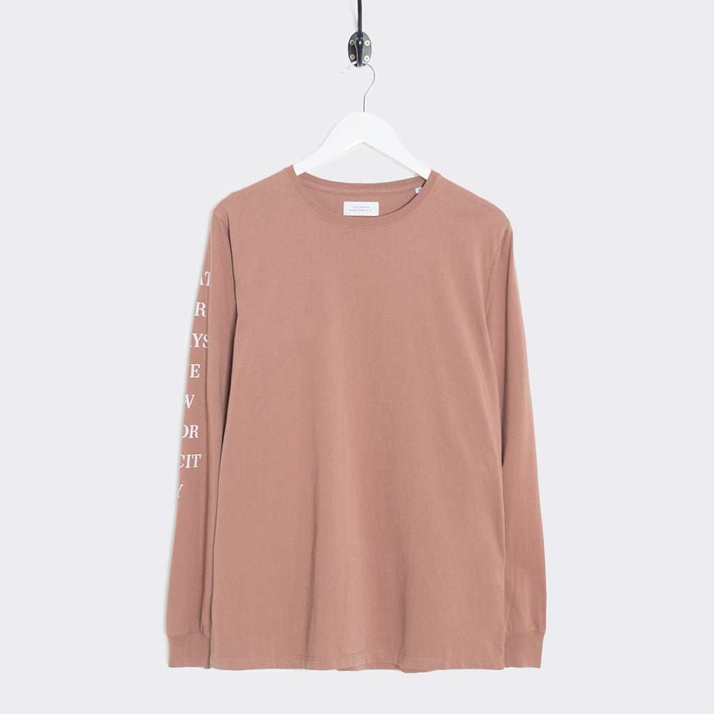 Saturdays NYC Stencil Long Sleeve T-Shirt - Copper
