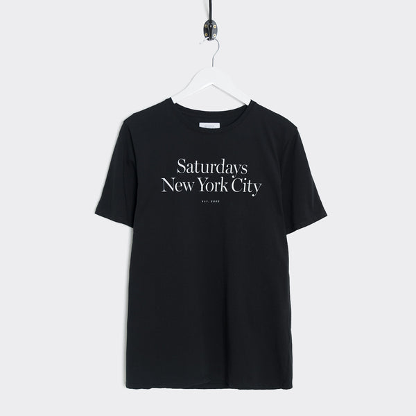 Saturdays NYC Miller Standard T-Shirt - Black T-Shirt - CARTOCON