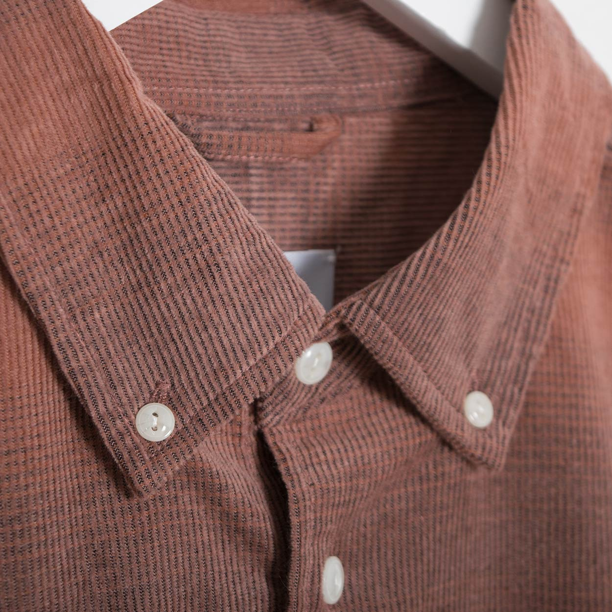Saturdays NYC Laszlo Button Down Corduroy Shirt - Bronze