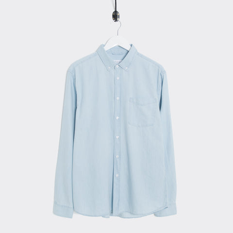 Saturdays NYC Crosby Denim Shirt - Washed Indigo Shirt - CARTOCON