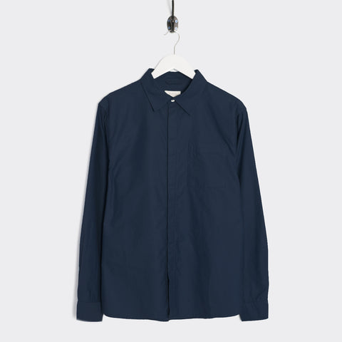 Saturdays NYC Mickey Moleskin Button Down Shirt - Midnight Shirt - CARTOCON