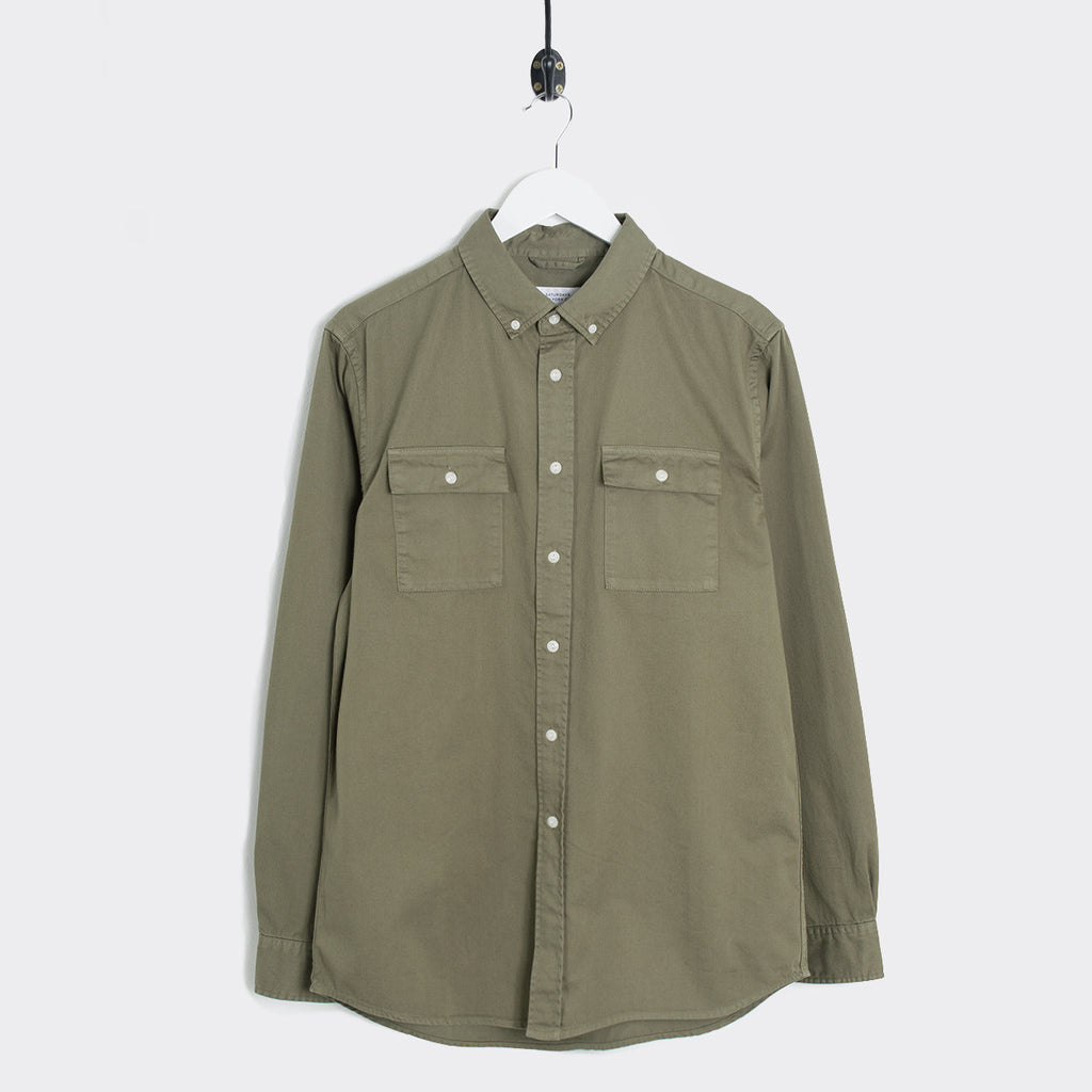 Saturdays NYC Angus Broken Twill Work Shirt - Sage