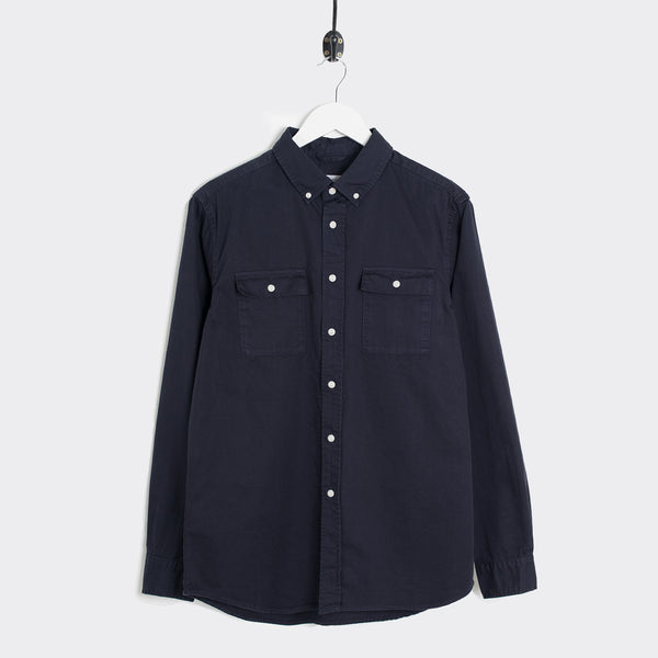 Saturdays NYC Angus Broken Twill Work Shirt - Midnight