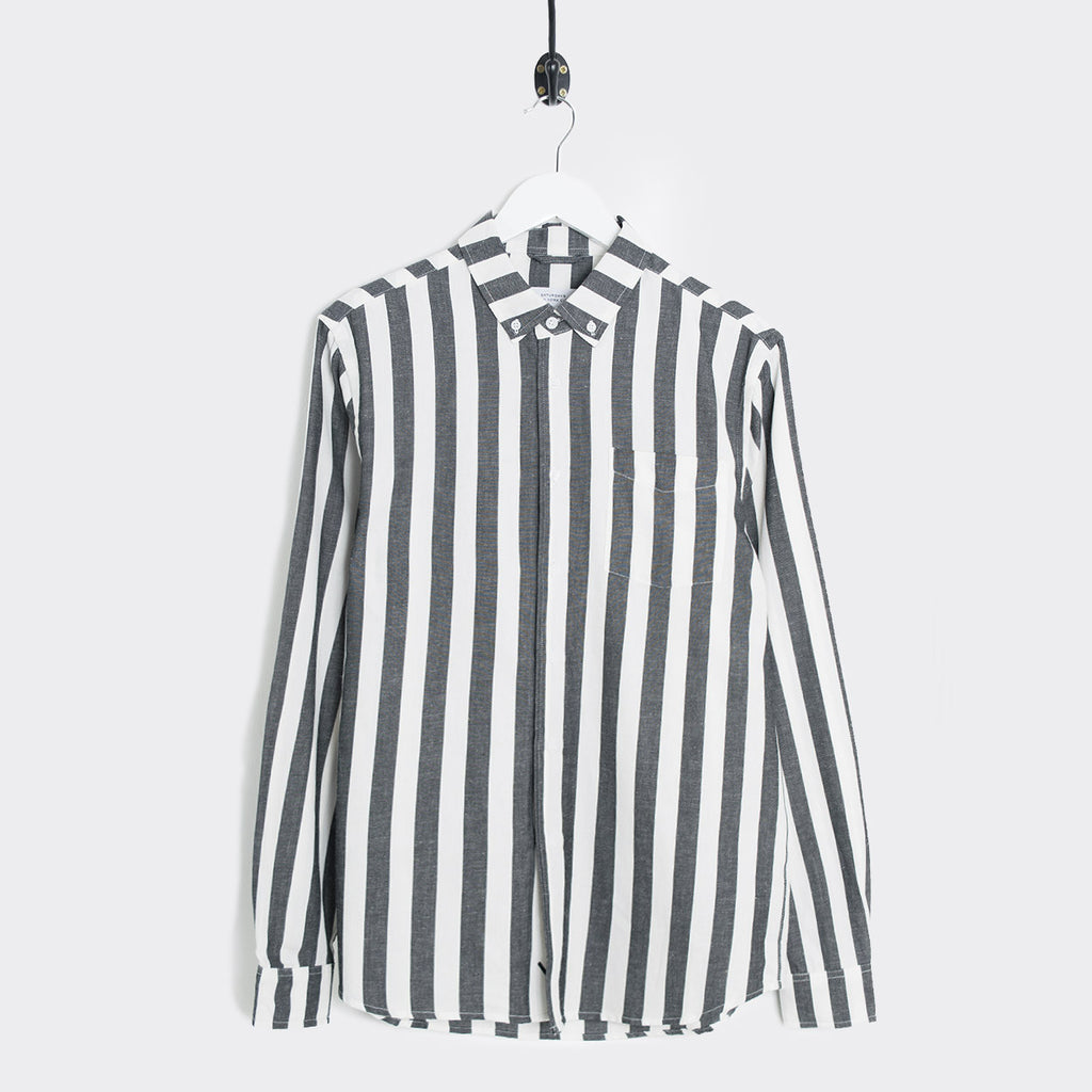 Saturdays NYC Crosby Jumbo Striped Shirt - Ivory