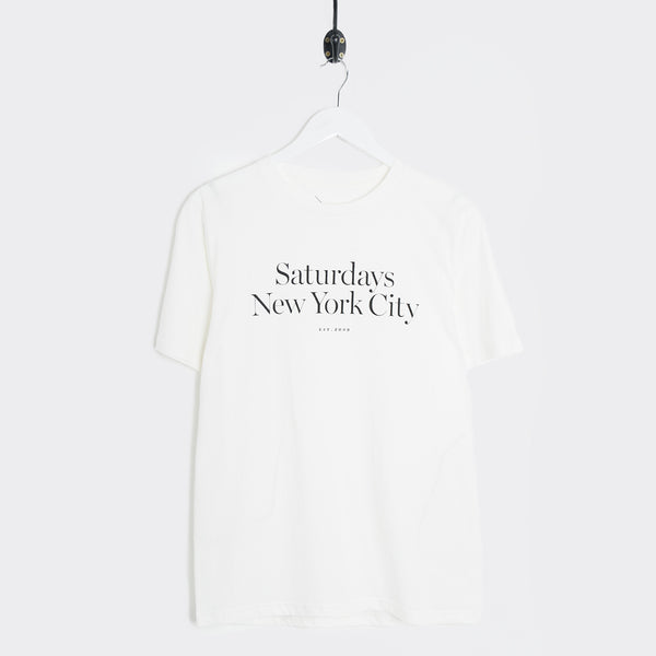 Saturdays NYC Miller Standard Logo T-Shirt - Ivory