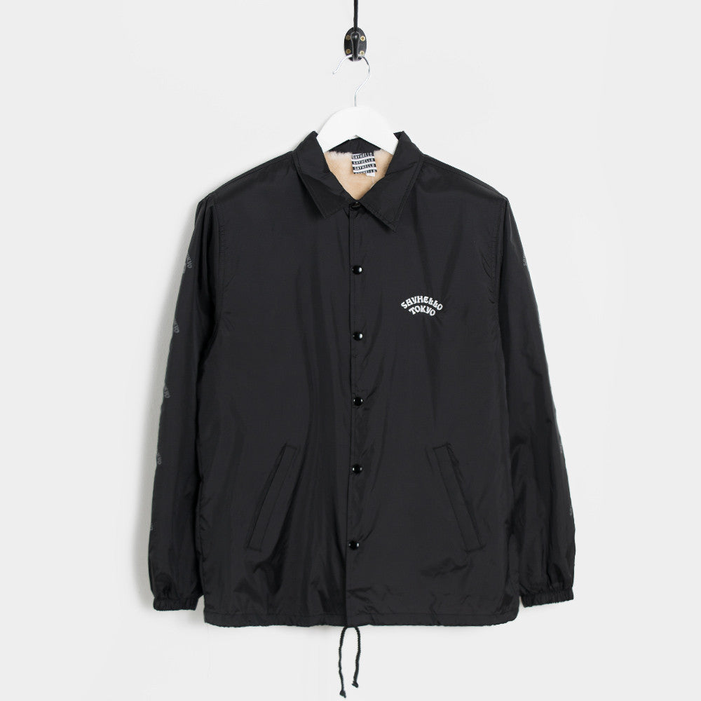 Say Hello Pop Down Boa Coach Jacket - Black - 1