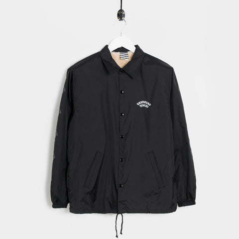 Say Hello Pop Down Boa Coach Jacket - Black  - CARTOCON