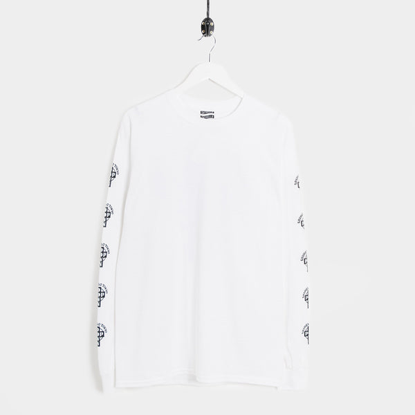 Say Hello Pop Down Long Sleeve T-Shirt - White - 1